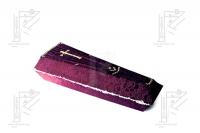 Гроб деревянный, обивка ткань №9